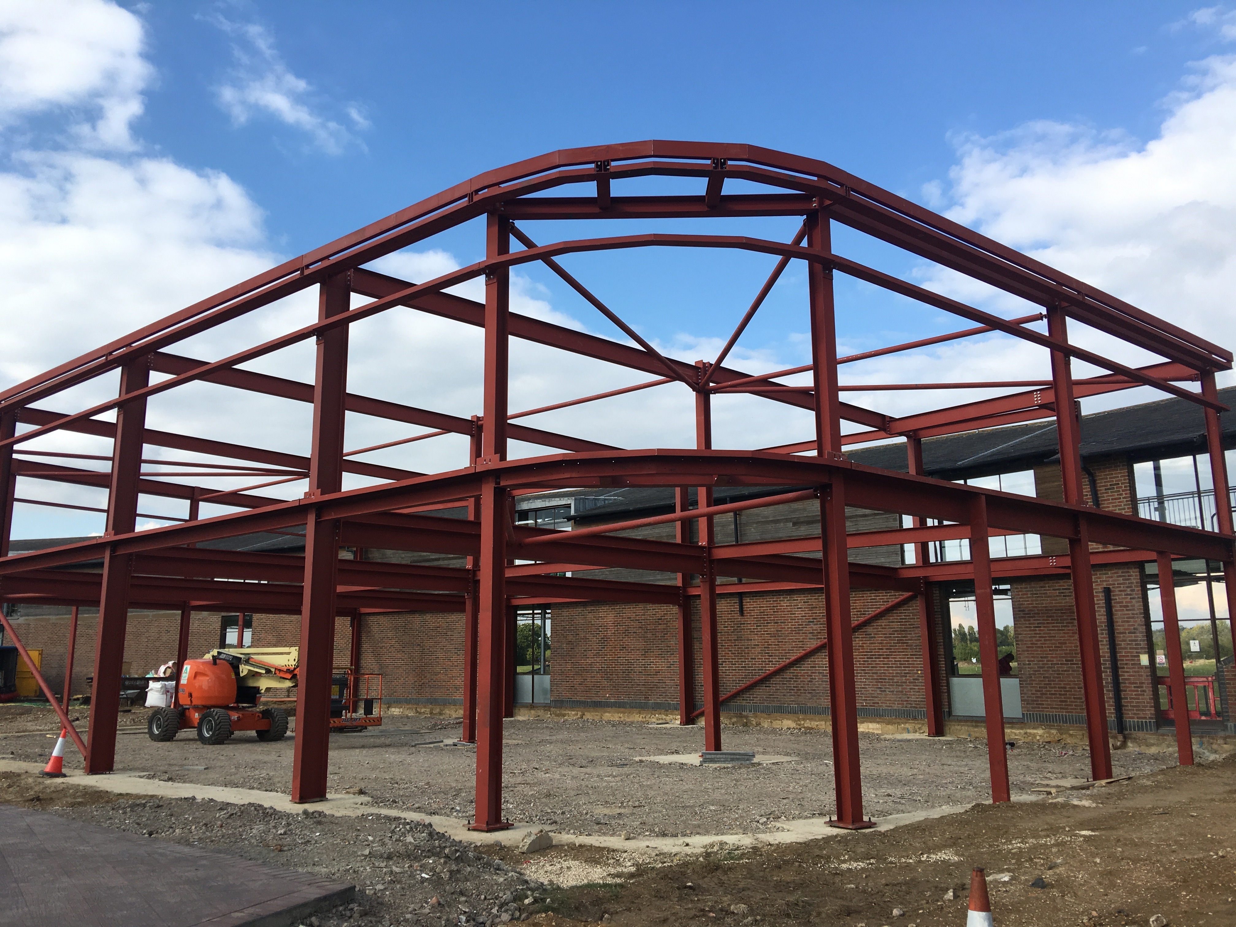 Large steel structure to a leading golf club in Dorset.