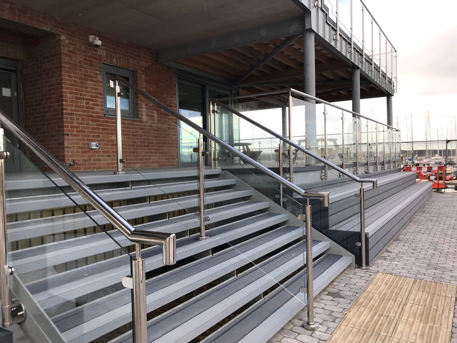 Exterior Steel Staircase for a venue in Parkstone, Poole